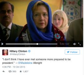 Hillary clinton - albright endorsement