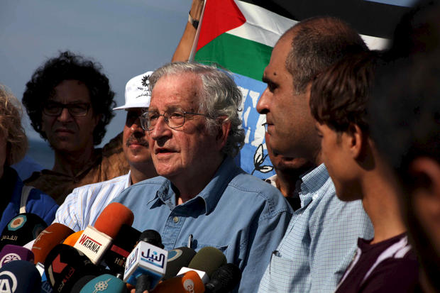 Chomsky with the Muslim Brotherhood in Gaza 10-2012