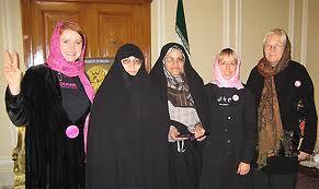 jodie evans in Iran