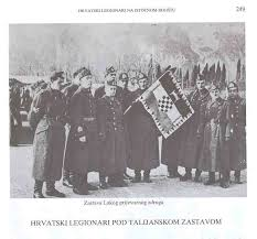 Croatian Fascists with flag