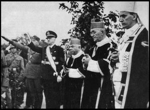 Catholic Archbishop Stepinac with Ustashi (Croatian) Nazis