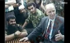Izetbegovic the father. Alija Izetbegovic with Jihadi fighters in Bosnia