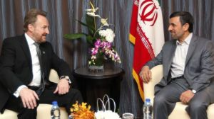 Following in his father's footsteps. Bakir Izetbegovic meets with Mahmoud Ahmadinejad