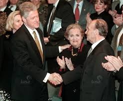 Izetbegovic the father: Alija Izetbegovic is received by President Bill Clinton and Secretary of State while on the Iranian payroll