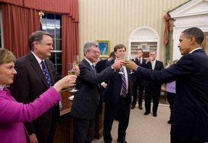 Gary Samore Toasting at the Oval office