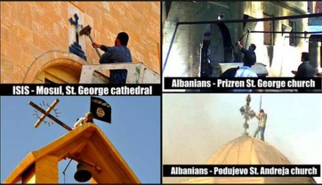 albanian destruction of serbian churches in Kosovo