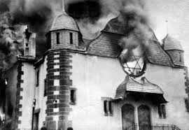 kristallnacht burning temple