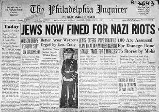KristallnachtNewspaper Jews fined for nazi riots