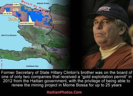 Haiti Hillary Clintons Brother - gold exploitation permit
