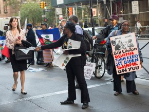Haitians demand return of BILLIONS stolen by Hillary and Bill Clinton – Protest N.Y. Attorney General Eric Schneiderman