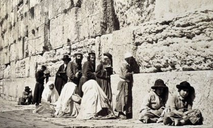 jewish-men-at-wailling-wall-vintage-photograph