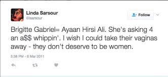sarsour tweet to Ayaan Hirsi Ali