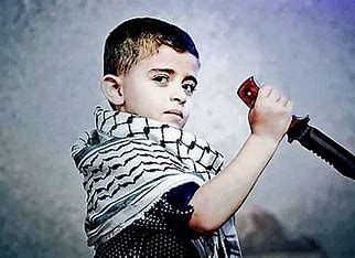 Palestinian boy with knife