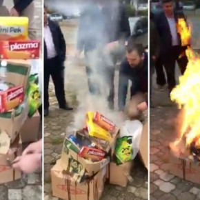 Kosovo Kristallnacht | Albanian paramilitary raid stores for Serbian products, burn them in streets, arrest Serbs
