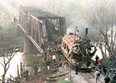 nato train bombing serbia