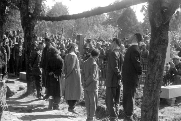 pancevo - hanging by german nazis of serbs and jews