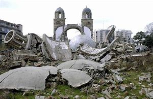 serbian church in ruins kosovo