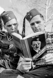 Muslims Reading Hitlers Mein Kampf