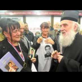 Serbian Orthodox Christian Patriarch visits with families of Murdered Victims of Human Organ Harvesting from Kosovo and Methohija [Video 3min.]