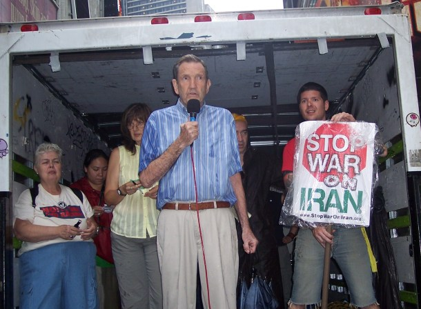 Ramsey_CLARK_No war on Iran protest