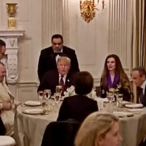 "Albanian ""Kosovo"" Ambassdor Seated Next to President Trump at Iftar Dinner at White House"