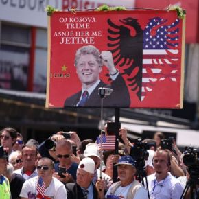 Bill Clinton, Madeline Albright and Wesley Clark celebrate their war crimes with Kosovo Albanian Narco-terrorist commander in Pristina…as Germany arrests ISIS supporter from Kosovo