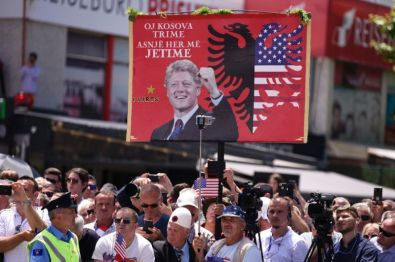 Clinton Albania flag