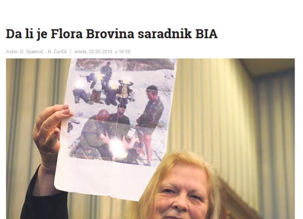 Kosovo Brovina holding Image of Iraqi porn