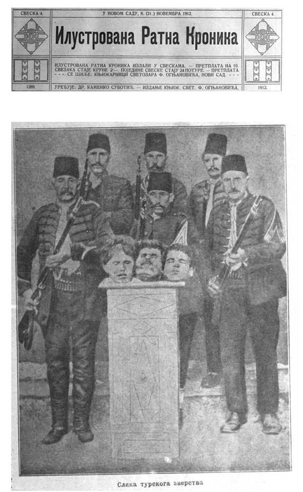 Turkish Atrocities - 1912 Beheadings Novi Sad