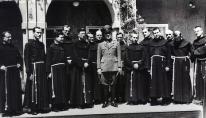 Ustasha Vatican Pavelic with Franciscans