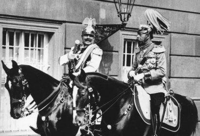 german monarchs on horseback