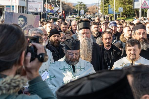 Montenegro Protest by Serbian priests