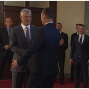 SWAMP CREATURE Richard GRENELL Quietly met with the Clinton backed Albanian Narco-Terrorist leader Hacim Thaci in Berlin …  Has Grenell been tasked to bring Kosovo into NATO through the Albanian backdoor?