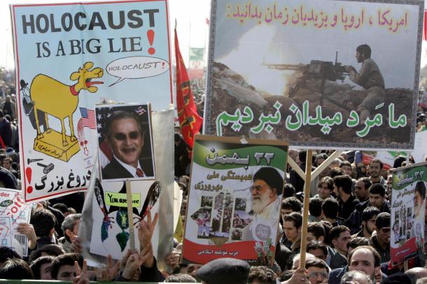Iran holocaust is a big lie signs