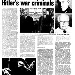 "Labour government ran Nazi ""rat line"" – Britain harbours Hitler's war criminals 