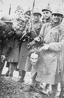 Croatian ustasha holding head