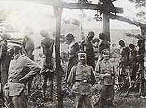 shark island german troops hanging Africa victims
