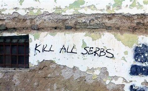 Kosovo anti-serbian graffiti