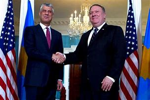 Thaci Pompeo - Dept of State Meeting