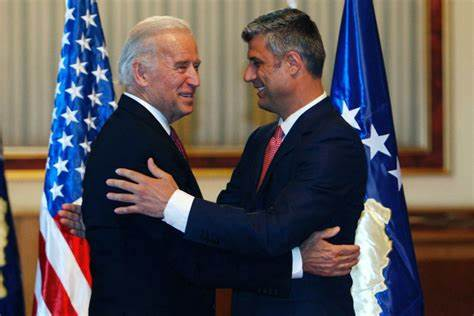 Biden with Narco-Terrorist War Criminal Thaci