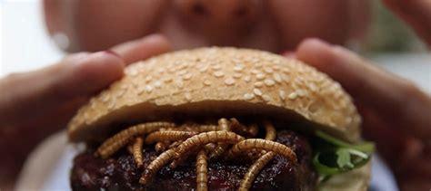 Mealworm burger