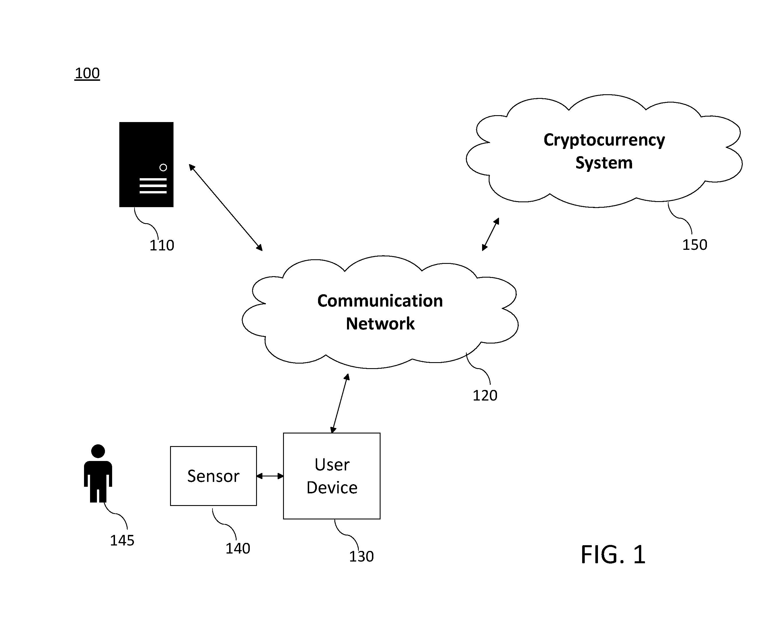 microsoft cryptocurrency patent diagram 1