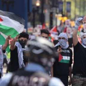 "'Kill the Jews': Pro-""Palestinian"" Muslim Mob Attacks pro-Israel Rally in Illinois(Video)"