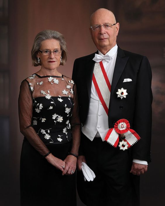 Klaus Schwab and wife portrait
