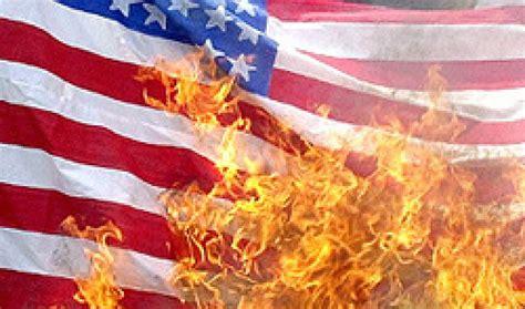 flag - burning the American flag